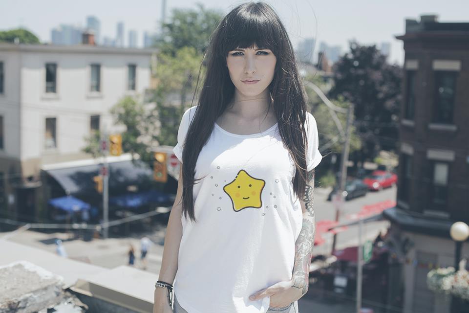 星星可爱t恤女款亲子装情侣装