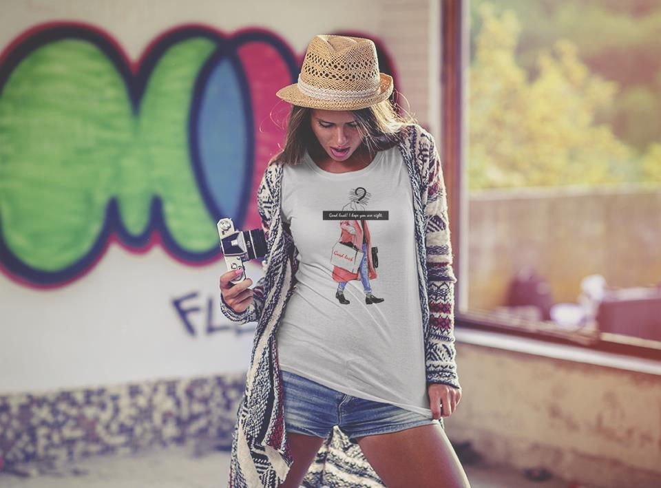 潮流时尚手绘人物t恤