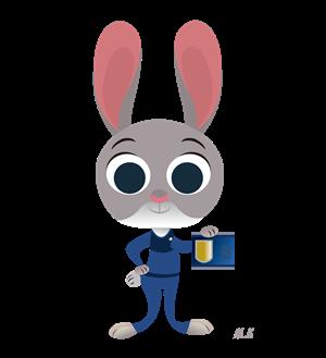 疯狂动物城-朱迪丨自个网,是一家面向设计师,ip以及,.