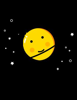 月亮可爱t恤儿童款亲子装情侣装