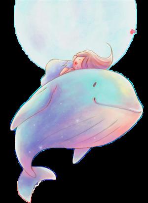 治愈系靓丽手绘海豚